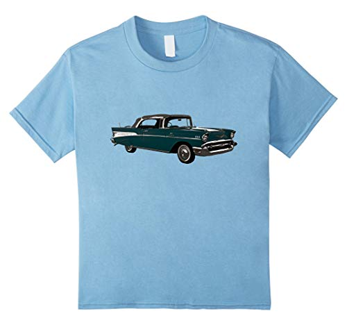 Kids Retro Vintage 1950s American Car T-shirt 10 Baby Blue