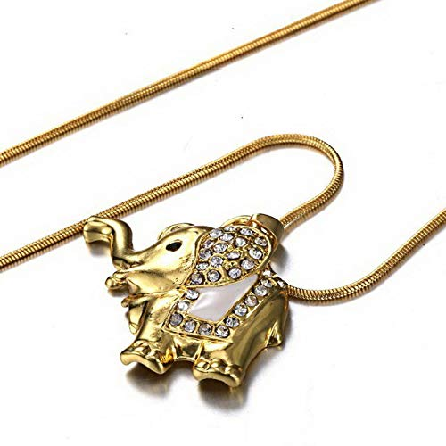 Kaputar Cute Animal Elephant Crystal Glass Locket Pendant Necklace Chain Women Jewelry | Model NCKLCS - 17930 |