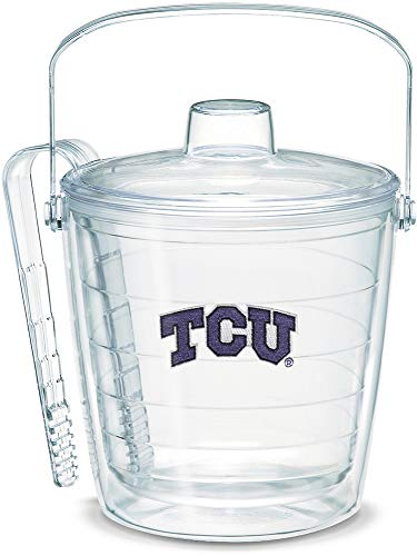 Tervis 1053491 TCU Horned Frogs Logo Ice Bucket with Emblem and Clear Lid 87oz Ice Bucket, Clear ()