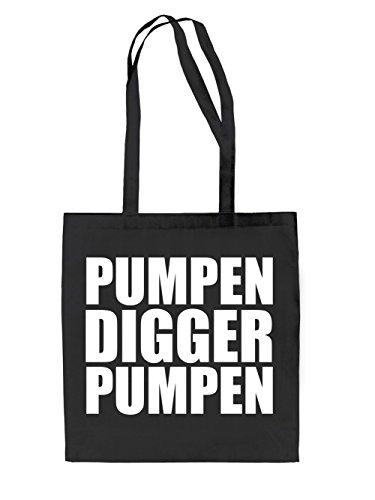 Pumpen Digger Pumpen Jutebeutel Black