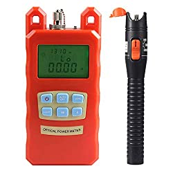 B Blesiya Aua 70c Fiber Optic Cable Tester Optical Power Meter With Sc Fc Connector Fiber Tester 10mw Visual Fault Locator Equipment For Catv Test Cctv Test