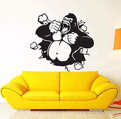 62x57cm fuerte mono gorila animal pegatinas de pared para ...