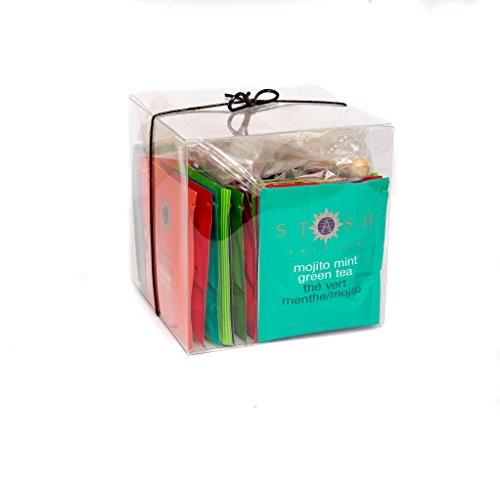 Mojito Gift Set (Stash Black and Green Tea (30 count) Variety Gift Set with 3 Sugar Swizzle Sticks)