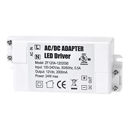 2-Pack Premium IP44 12V 1A 12W Low Voltage LED Driver Transformer AC DC Switching Power Supply YAYZA