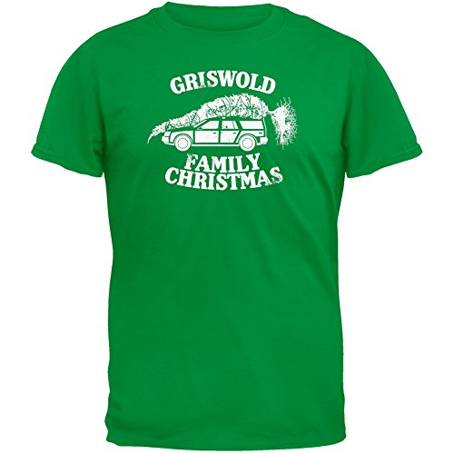 Christmas Vacation - Griswold Family Christmas Green T-Shirt (Griswold Merchandise compare prices)