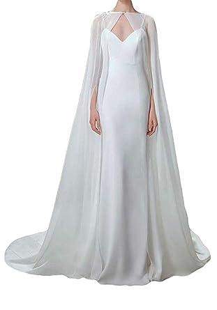 Veste cape blanche longue