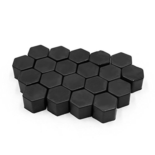 - uxcell 20Pcs Black 21mm Car Vehicle Wheel Nut Lug Hub Covers Screw Dust Protect Caps