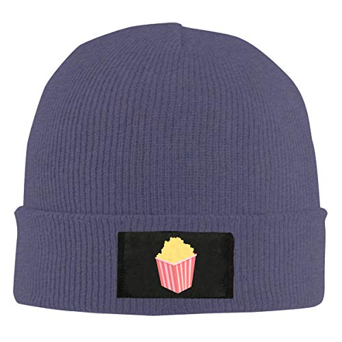 Popcorn Cable Hat - MXs-s Popcorn Warm Winter Hat Knit Beanie Skull Cap Cuff Beanie Hat Winter Hats for Men & Womens Navy