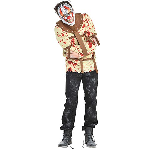 Amscan Psycho Clown Halloween Costume for Men, Standard, with Included Accessories