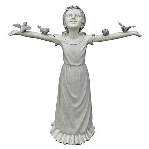Basking In Gods Glory Large Design Religious Christian Garden Statue by Statues