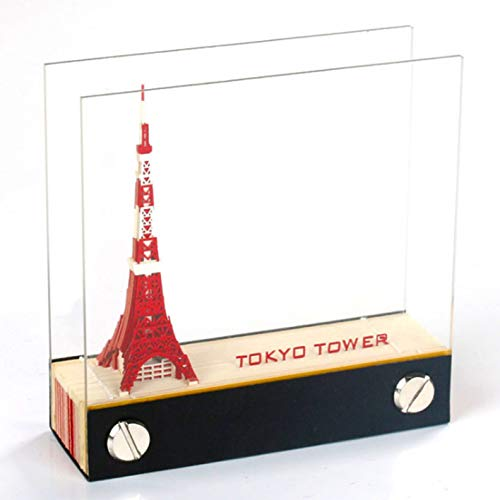 1Pc 120 sheets DIY Paper Art Building Block 3D Stick Notes Convenience Stickers Papers Card Craft Creative Post notes Paper Art Crafts(Tokyo Tower)