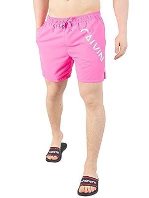 Calvin Klein Men's Medium Drawstring Swim Shorts, Pink