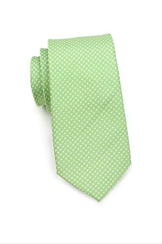 Bows-N-Ties Men's Necktie Skinny Pin Dot Microfiber Tie 2.75 Inches (Midori Green) (Midori Satin)