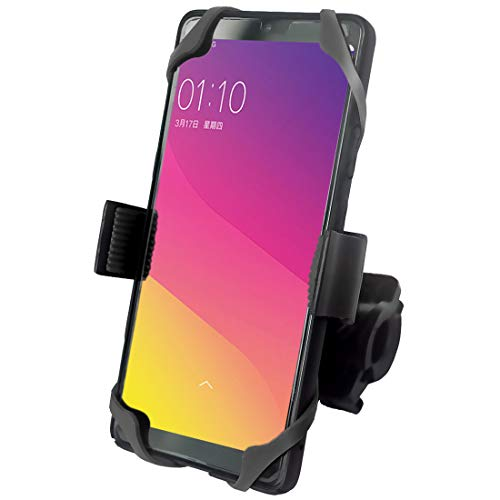 VTUVIA Universal Cell Phone Holder for Electric Bike Motorcycle Handlebars, Adjustable Bike Phone Mount, Compatible with Phones 2.3