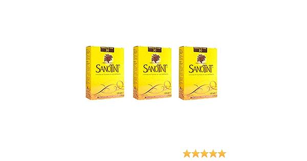 SANOTINT Tinte clásico color 30 rubio oscuro cálido -3 paquetes - 3 x 125 ml