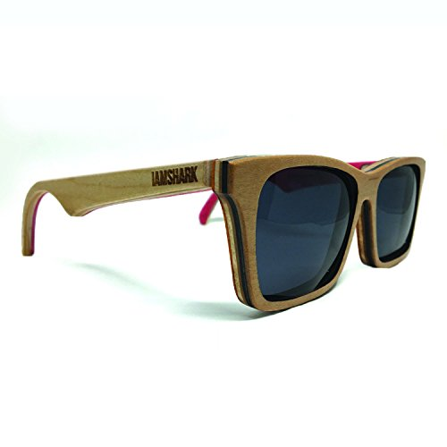 Acer Sunglasses (Natural) - Recycled Sunglasses Skateboard