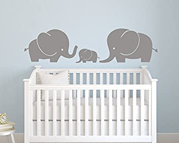 Delicieux Elephant Family Wall Decal   Nursery Wall Decals   Nursery Decor Elephant  (52Wx14H)