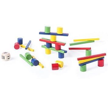 DISOK Lote de 20 Juegos de Habilidad de Madera con 33 Piezas Cada Juego. Juegos de Habilidad Originales, niños, cumpleaños Infantiles.