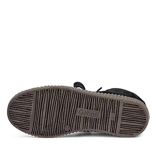 de Zapatos Cordones Cuero Mujer para Gabor de Negro FaxwAOv