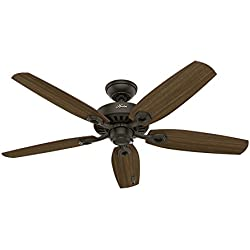 Hunter 53242 Builder Elite 52-inch Ceiling Fan with five Harvest Mahogany/Brazilian Cherry Reversible Blades