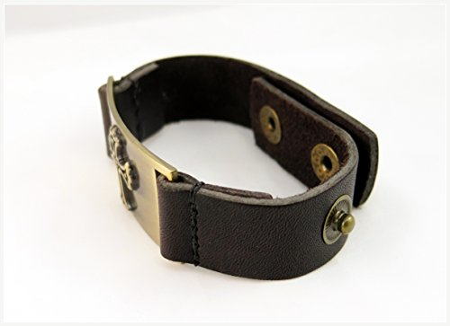 Cross Bracelet, Leather, Adjustable