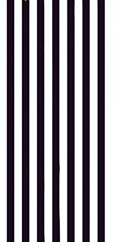 Cabana Stripes Black Color Velour Brazilian Beach Towel 30x60 Inches ()