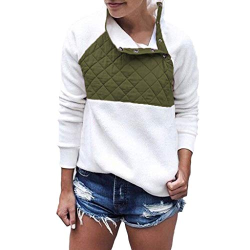 [해외]Women Tops Flannel Patchwork Long Sleeve Sweatshirt Pullover Shirt Tops Blouse Sweater / Women Tops Flannel Patchwork Long Sleeve Sweatshirt Pullover Shirt Tops Blouse Sweater