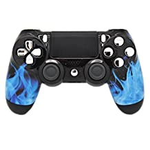 Blue Flame Modded PS4 Rapid Fire Controller, Works With All Games, COD, Rapid Fire, Dropshot, Akimbo & More