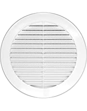 Round Soffit Vent - Air Vent Louver - Grille Cover - Built-in Fly Screen Mesh - HVAC Ventilation Plastic)