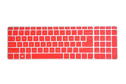 Leze - Ultra Thin Laptop Keyboard Cover Skin Protector for HP Pavilion 15 15-ab 15-ac 15t-ae 15-af 15-ak 15-an 15-au 15-ay 15-as 15-ba 15-bc 15-bk,HP OMEN 15-ax 15.6 Inch Semi - Red