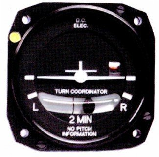 FALCON GAUGE ELECTRICAL TURN COORDINATOR LIGHTED 10-30 VDC WITH AN 8 DEGREE TILT ()
