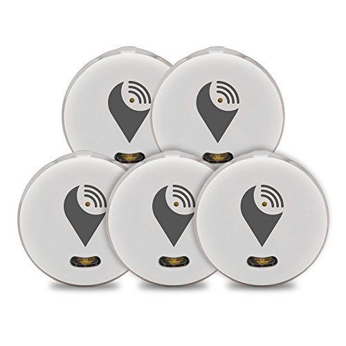 TrackR pixel Bluetooth Tracking Device Black 5 Pack