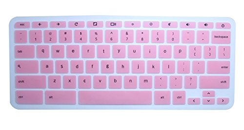 CaseBuy Ultra Thin Keyboard Silicon Protector Cover Skin for 11.6' HP Chromebook 11 G2 / G3 / G4 / G5 Chromebook US Layout(NOT Fit HP Chromebook 11 G5 EE), Pink