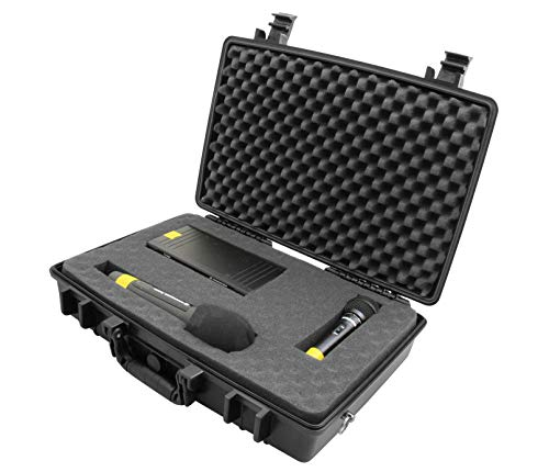 STUDIOCASE 2.0 PRO Wireless Microphone System Hard Case w/Foam - Fits Sennheiser, Shure, Audio-Technica, Nady, VocoPro, AKG Receiver, Body Transmitter, UHF Headset, Lavalier and Handheld Mics