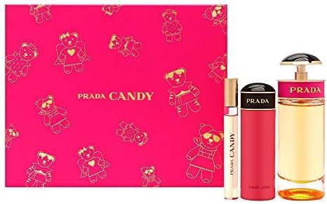 Prada Candy for Women 3 Piece Set (2.7 Eau De Parfume Spray + 2.5 Body Lotion + 10 Ml Roll On)