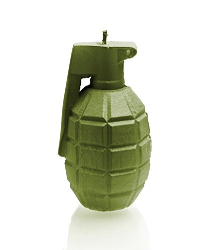 Candellana Candles 5902650670006 Large Grenade Candles, Olive Large Grenade