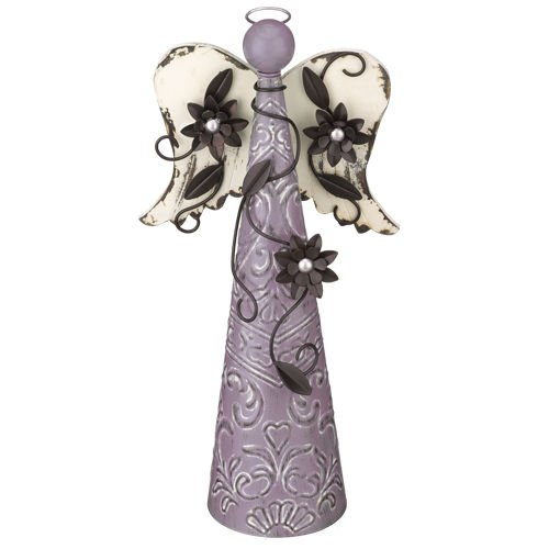 Regal Art & Gift Floral Angel Decor, 16-Inch, Orchid ()