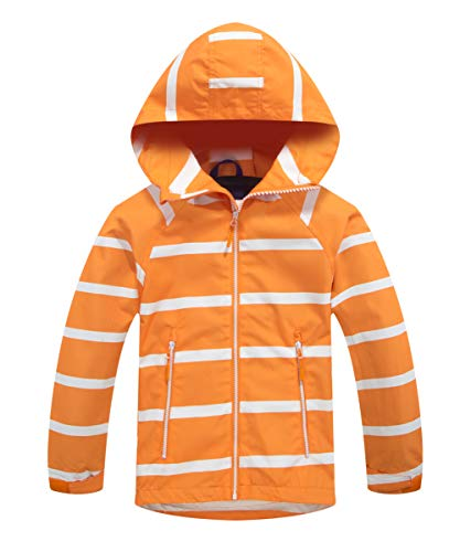M2C Boys & Girls Striped Windproof Fleece Lined Jackets with Hood