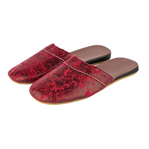 Haisum Donna casa Interno morbido Red per Ciabatte Pantofole Wine Antiscivolo viaggio da chiuse ZZrqdOpfw