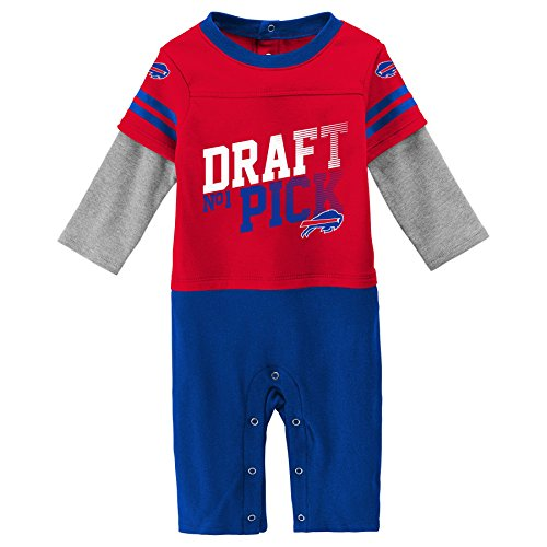 Outerstuff NFL Buffalo Bills Newborn & Infant Draft Pick Long Sleeve Coverall Red, 18 Months