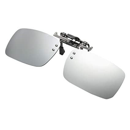 79c3c5b9b91 Image Unavailable. Image not available for. Color  Quelife Detachable Night  Vision Lens Driving Metal Polarized Clip On Glasses ...