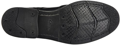 Clarks Devington, Stivaletti Uomo Nero (Black Smooth Leather)