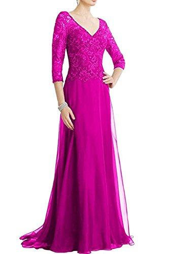 Braut Brautmutterkleider Abendkleider Ballkleider Langarm La Marie Partykleider Pink Spitze Damen gTnUqZ