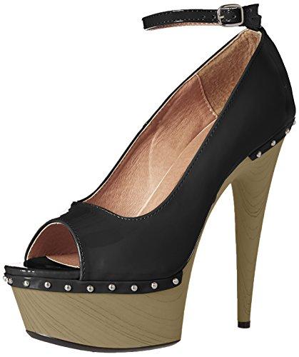 Valerie Platform Shoes - Ellie Shoes Women's 609-VALERIE Pump, Black, 9 Medium US