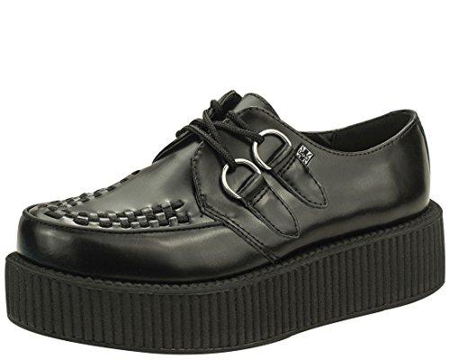 T.U.K. Unisex V6802 Creeper Oxford, Black, 6 M US - Mondo Creeper Shoe