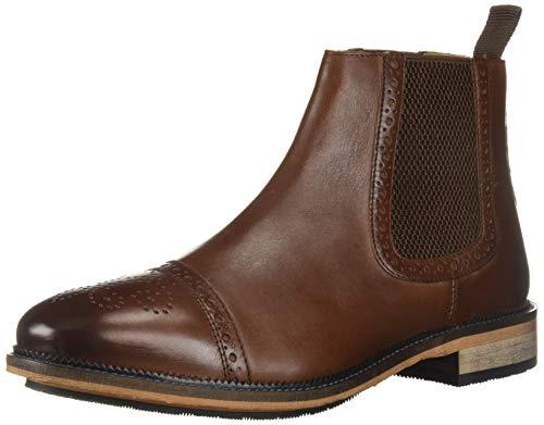 Steve Madden Men's DEADBOLT Chelsea Boot, Cognac Leather, 9 M US