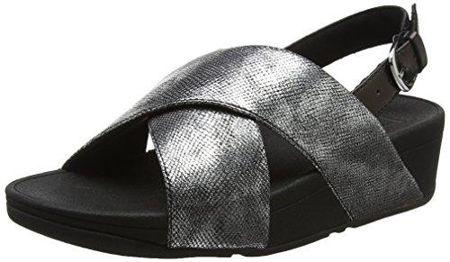 stampa Back Donne Fitflop Shimmer Luccichio Open cinghia Sandali Toe Di Attraversano nero Lulu Nero rrwqOZ