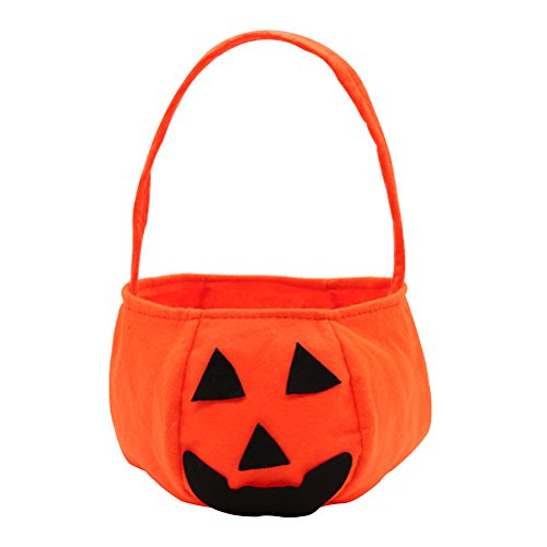 Halloween Pumpkin bag children's hand woven non-woven fabric pumpkin Candy Bag Halloween Party Costumes Decor (Purple Minion Costume Makeup)