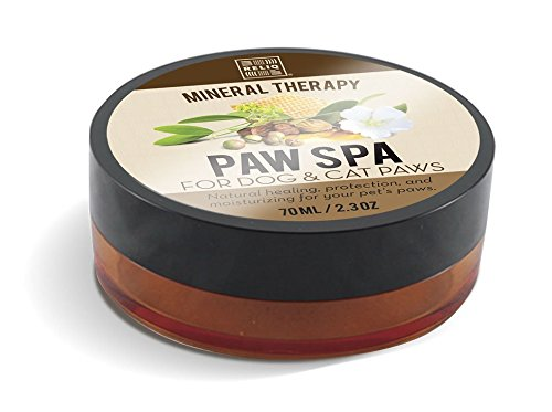 RELIQ natural mineral PAW SPA cream for dogs and cats. Not like wax balm, this creamy lotion is easy to apply and absorb faster. Add protection on pet paws and dry nose for summer heat and winter cold