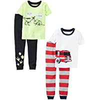 Carter's Baby Boys' 2-Pack 2 Piece Cotton Pajamas